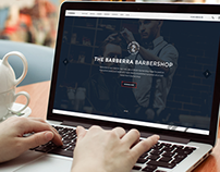 Barbershop PSD template