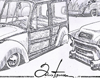 Kustom automotive sketch