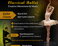 Ballet Classes - Leaflet / E-flyer