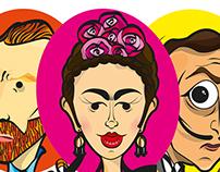 Vincent, Frida y Dalí