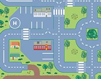 Kids Rug Street Map