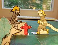 Recortable de bomberos