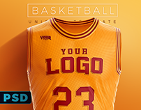Basketball Uniform Jersey PSD template