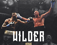 Boxing Poster for Wilder vs Fury