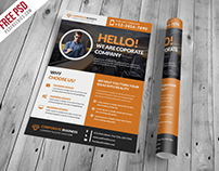 Free PSD : Corporate And Clean Business Flyer PSD