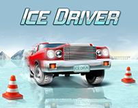 Ice Driver game UI