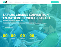 Montreal Web Convention | Website Mockup
