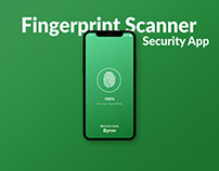 Fingerprint Scanner App XD Template