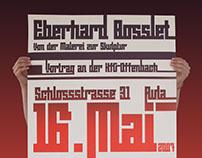 Eberhard Bosslet Plakat