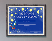 Preschool Diploma Template