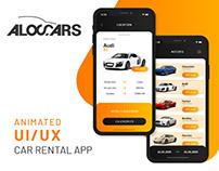 Aloc-Cars - Car Rental App UI/UX Mobile Design