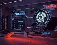 Project 8 - the secret laboratory. // CGI, 3d interior