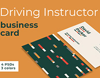 Business Card Template Driving Instructor