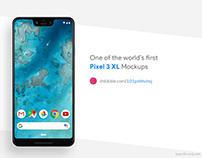 Pixel 3 XL free PSD mockup