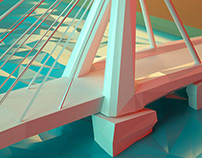 Lowpoly 'Bridge of Rotterdam'