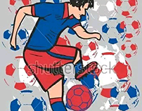 Russia 2018 soccer team set graphic design vector art