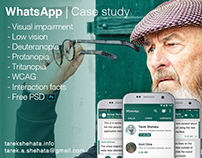 WhatsApp case study for visual impairment conditions.
