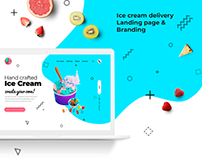 Ice Cream delivery Landing page & Branding