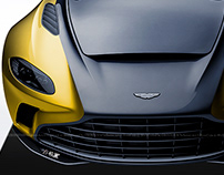 2020 Aston Martin V12 Speedster Black & Yellow