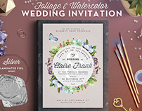 Foliage & Watercolor Wedding Invite III
