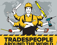 Tradespeople around the World - infographic