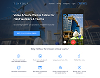 Landing Page for Mobile & Web App Platform