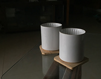 Double walled ceramic cup