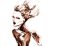 Little brown pen sketch