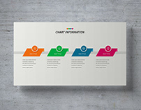 Colorful four step infographic with icons