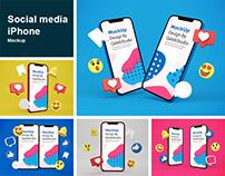 Social Media iPhone Mockup