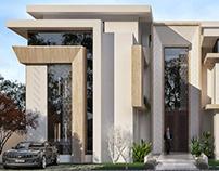 Modern villa in bright colors