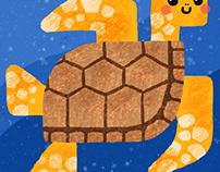 Marine life illustration.