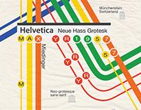 Helvetica Typeface Poster