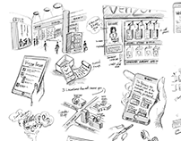 User Experience Storyboard Sketches
