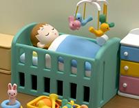Room of the baby 赤ちゃんの部屋