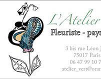 Business card - L' Atelier Vert