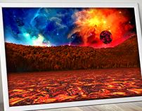 Red planet lake montage