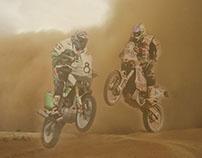 """Retoque fotográfico """"Motos en el desierto"""""""