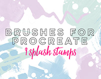 9 SPLASH STAMPS - Brushes for Procreate