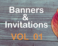 Banners & Invitations VOL 01
