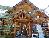 Log Home Restoration Evergreen, Colorado