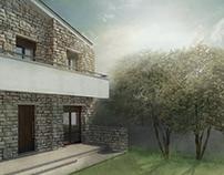 House in Crete, 3d representation