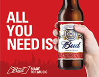 BUD - Made for Music (Facebook Campaign)