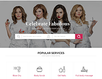 SPA, Saloon, Body Care, Massage Website Design