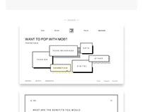 Website: pop-up, UI