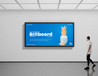 Free Indoor Advertising Billboard Mockup PSD