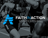 Faith In Action Sports Apparel Brand Identity