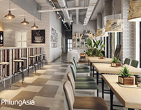 Coffee restaurant design . Tay Ninh - Vietnam - Design