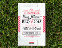 CSU, Chico Family Weekend BBQ Postcard and Ticket