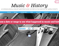 Music & History website